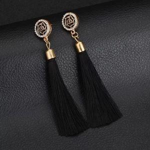 🆕️Black & Gold Tassel Earrings 😍